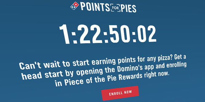 Can Domino's gain customers by offering free pizza for pies